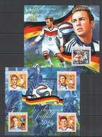 ST2738 2014 NIGER SPORT FOOTBALL WORLD CUP CHAMPIONS GERMANY KB+BL MNH - 2014 – Brazilië