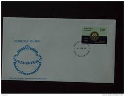 Norfolk Island 1980 FDC Rotary International 75 Ans Yv 234 - Rotary, Lions Club