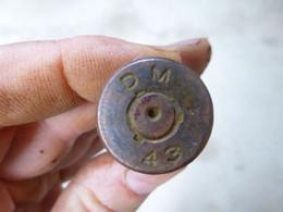 Douille WW2 12.7 Cal 50 BMG - Marquage Du Culot DM 43 - Courrier Ordinaire - Decorative Weapons