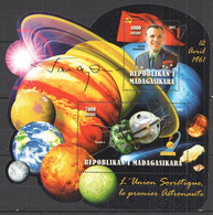 TT400 2012 SPACE YURI GAGARIN FIRST HUMAN IN SPACE USSR 1BL MNH - Otros