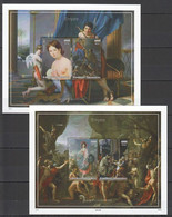 UU418 IMPERF GOLD 2014 ART PAINTINGS EMPIRE JACQUES-LOUIS DAVID 2BL MNH - Other