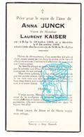 DP Anna Junck Yunck ° Beho Gouvy 1865 † 1945 X Laurent Kaiser - Andachtsbilder