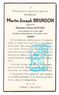 DP Martin J. Brunson ° Langlire Bouvy 1896 † Salmchâteau Vielsalm 1942 X Marie Mousny - Andachtsbilder