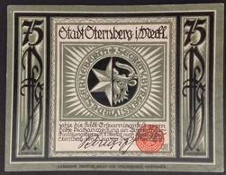 Sza.20 - Germany 1922 Notgeld Banknote 75 Pfennig Sternberg Grabowski/Mehl 1268.2-3/3 UNC - [11] Local Banknote Issues