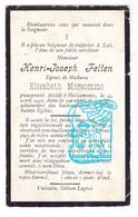 DP Henri Joseph Felten ° 1846 † Halconreux Bovigny Gouvy 1916 X Elisabeth Morsomme - Andachtsbilder