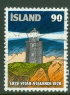 Iceland 1978; Lighthouse - Michel 537, Used. - Usados