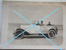 Photo KNOKKE LE ZOUTE Kust AUTO Automobile Oldtimer Vers 1923 Voiture Car Belgium - Cars