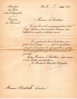 Lettre Envoyée Au Sénateur BOUTEILLE 27 Mai 1885 Concernant L'Attribution D'un Poste De Facteur à PEYRUIS 04 - Historische Dokumente
