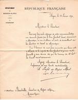 Lettre Envoyée Au Sénateur BOUTEILLE Du 12 Février 1890 Concernant L'Attribution D'un Poste Au Canal De MANOSQUE - Historische Dokumente