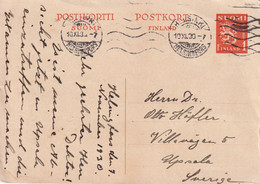 FINLANDE 1930   ENTIER POSTAL/GANZSACHE/POSTAL STATIONARY CARTE DE HELSINKI - Entiers Postaux