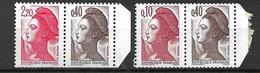 France    N° 2179a Et 2376b Liberté De Delacroix   Neufs * *  B/TB = MNH F/VF Voir Scans Soldé  ! ! ! - Unused Stamps