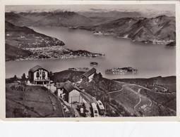 MOTTARONE-VERBANO CUSIO OSSOLA-STAZIONE FERROVIE E PANORAMA- CARTOLINA VERA FOTOGRAFIA NON VIAGGIATA-1930-1940 - Verbania