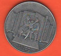 San Marino 100 Lire 1976 Steel Coin - Saint-Marin