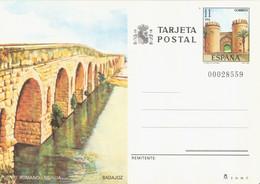 SPAIN. POSTAL STATIONERY. ROMAN BRIDGE OF MERIDA AND PALMAS DOOR OF BADAJOZ. - Sin Clasificación