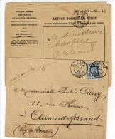 S5-lettre Rebut Document Complet - 1877-1920: Période Semi Moderne