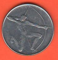 San Marino 100 Lire 1980 Archery Olympic Games Steel Coin - Saint-Marin