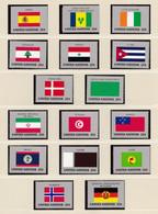 ONU Nations Unies  New-York Année 1988 Série Drapeaux 521 à 536 Neuf XX  Cote 30,40 - Nuovi
