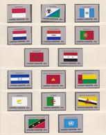 ONU Nations Unies  New-York Année 1989 Série Drapeaux 547 à 562 Neuf XX  Cote 30,40 - Nuovi