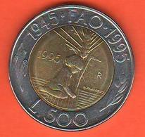 San Marino 500Lire 1995 FAO Bimetallik Coin - Saint-Marin