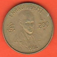 San Marino 200 Lire 1984 Fermi Enrico Comunications Bronze Coin - Saint-Marin
