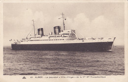 Alger (Algérie) - Le Paquebot Ville D'Alger De La Cie Gle Transatlantique - Alger