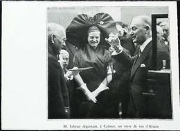 ► 1936 - COLMAR  - Visite Présidentielle Dégustation Du Vin D'alsace  - Coupure De Presse   (Encadré Photo) - Historical Documents