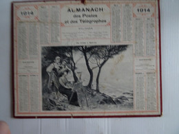 Almanach Calendrier Des Postes 1914  26.5 X 21 Cm  Dans L'état - Small : 1901-20