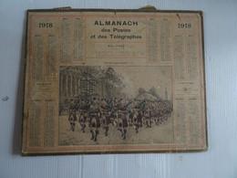 Almanach Calendrier Des Postes 1918 Défilé De La Garde écossaise  26 X 21 Cm  Dans L'état - Small : 1901-20