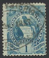 Guatemala, 1 C., 1886, Sc # 31, Mi # 31, Used - Guatemala