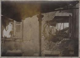 Lot De 6 Photo Ancienne Noircies  Guerre  WWII Ruines à Meximieux Ain - Guerra, Militari