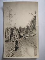 Argonne Forest Road Construction Route - Soldats Américains US Army WW1 - Carte Photo - War 1914-18