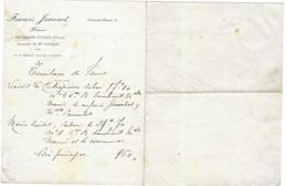 Petit Courrier Francis JEANNOT / Notaire / 25 Orchamps-Vennes / Doubs - 1900 – 1949
