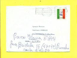 TARGHETTE-STORIA POSTALE-ANNULLI A TARGHETTA- ISOLATI SU BUSTA- - 1971-80: Marcofilia