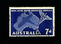 AUSTRALIA - 1957  FLYING DOCTOR SERVICE  FINE USED - Gebruikt