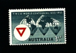AUSTRALIA - 1955  CENTENARY OF Y.M.C.A.  MINT NH - Ongebruikt