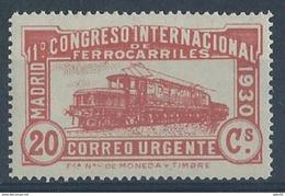 ES482FSFNBL-LFT***482FTEURESURG.España.Spain.Espagne. Locomotora COCODRILO.CONGRESO  DE.FERROCARRILES.1930  (Ed 482F**) - Eisenbahnen