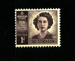AUSTRALIA - 1948  PRINCESS NO WMK  MINT NH  SG 222a - Ongebruikt