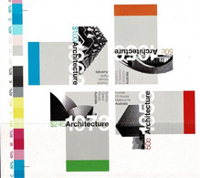 Australia 2007 Architecture Landmarks Imperforate Minisheet MNH With Colour Bars - Ongebruikt