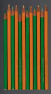Lot De 12 Crayons De Couleurs RIVOLI (Made In France - Fabrication Conté) Très Peu Utilisés - Sonstige