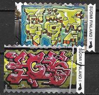 Finlande 2018 N°2557/2558 Oblitérés Street Art - Gebruikt