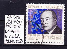 "18.11.1994 -  SM  ""100. Geburtstag V. Richard Coudenhove Kalergi""  -  O  Gestempelt  -  Siehe Scan  (2173o 02) - 1991-00 Gebraucht"