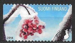 Finlande 2018 Timbre Oblitéré Baies Enneigées - Gebruikt