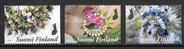 Finlande 2019 N° 2596/2598 Oblitérés Fleurs - Gebruikt