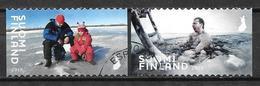 Finlande 2019 N° 2586/2587 Oblitérés Activités D'hiver - Gebruikt