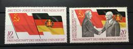 (21) DDR 1972 : Sc# 1374-175 LEONID BREZHNEV AND ERICH HONECKER GERMAN-SOVIET FRIENDSHIP - MNH VF - Ongebruikt