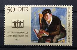 (347) DDR 1972 : Sc# 1393 INTL BOOK YEAR YOUNG WORKER READING - MNH VF - Ongebruikt
