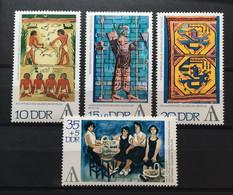 (4496) DDR 1972 : Sc# 1397-1398 + B168-B169 TAPESTRY ANIMAL DESIGN ANATOLIA BIRD CATCHERS EGYPT - MNH VF - Ongebruikt