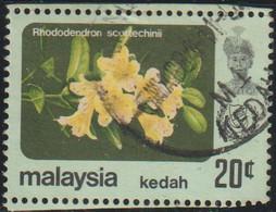 Malasia 1979 Scott 125 Sello º Flora Flores Kedah Rhodedendron Sultan Abdul Halim Michel 125 Malaysia Stamps Timbre - Malesia (1964-...)