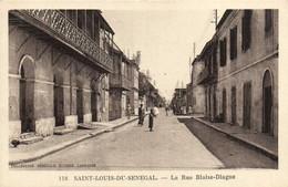 SAINT LOUIS DU SENEGAL  La Rue Blaise Diagne Recto Verso - Senegal