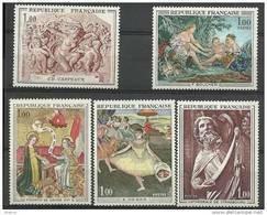 "FR YT 1640 1641 1652 1653 1654 "" Série Artistique "" 1970 Neuf** - Unused Stamps"